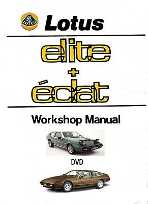 Lotus Elite - Eclat Dealership Workshop Manual of DVD