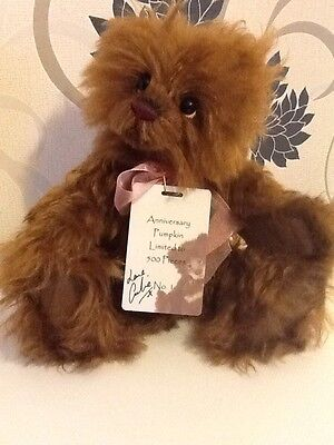 Charlie Bears Anniversary Pumpkin signed no.1