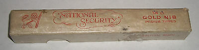 VINTAGE FOUNTAIN PEN BOX  British Carbon Papers of Farringdon- National Security