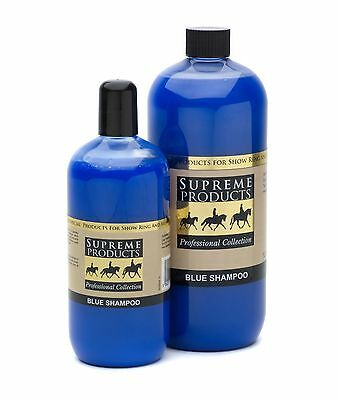 Supreme Products Blue Whitening White Shampoo Horse Pony Showing 500ml & 1 Litre