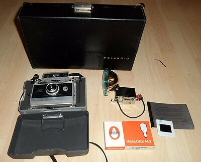 Retro Vintage Concertina Polaroid 330 Instant Film Land Camera + Flash & Case