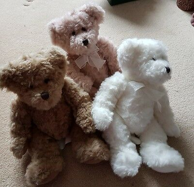 Set of Three Small Teddy Bears 9inches