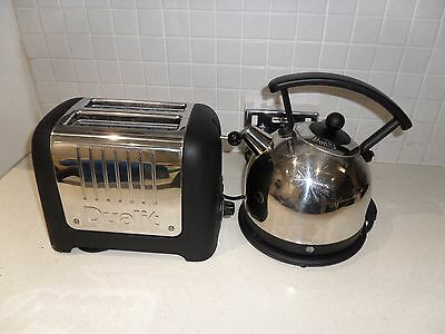 Dualit Dome 1.7L Chome Kettle + Matching 2 Slice Toaster