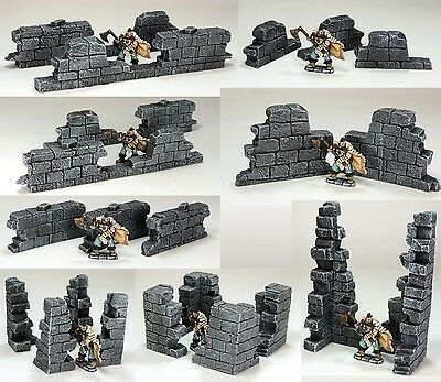 'ruined Walls Pack' - Fantasy Terrain - Painted To Collector's Standard