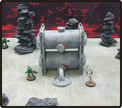 SMALL SILO  PACK -  'FULLY PAINTED' - 40K suitable buildings, terrain, scenery.