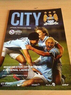2016 Manchester City Ladies V Arsenal Ladies