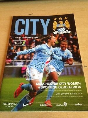 2016 Manchester City Ladies V Sporting Club Albion Ladies - Womens Fa Cup