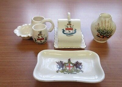 4 x Crested China items - Skegness, Whitemoor, London