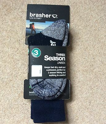 Brasher 3Season walking/Hiking socks Size 4-5.5 Dark blue