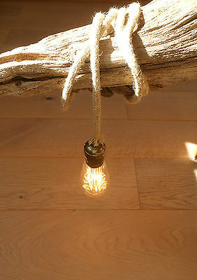 5 Mtr JUTE ROPE COVERED 2 CORE LIGHT FLEX WIRE CORD HANGING LAMP PENDANT CEILING