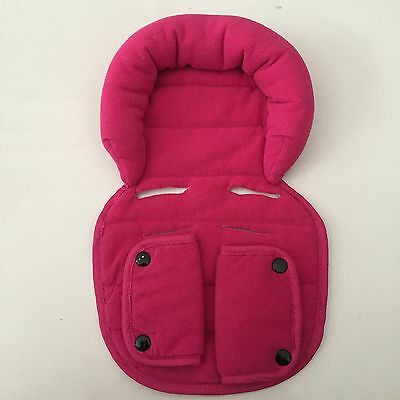 LINER & Soft Fabric HEAD SUPPORT INSERT For Steelcraft Capsule Stroller PINK