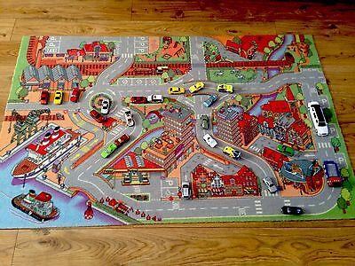 ELC Car Road  Play Mat / Rug & 23 Cars ! PICK UP ONLY