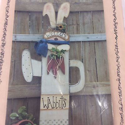 Pretty Primitives Wood Patterns By Karen Stone #128 Wabbits 1999 Crafts