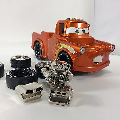 Disney Cars 2 Ridemakerz Hot Rod Mater with 4 Extra Tires 3 Blowers no Spoiler