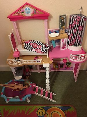 Barbie Starter House With Dolls And Pool Vgc