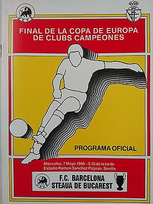 1986 European Cup Final Steaua Bucharest v Barcelona Mint condition