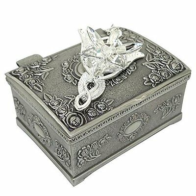 PALLION® Silver Plated Lord of the Rings Arwens Evenstar Pendant Necklace with