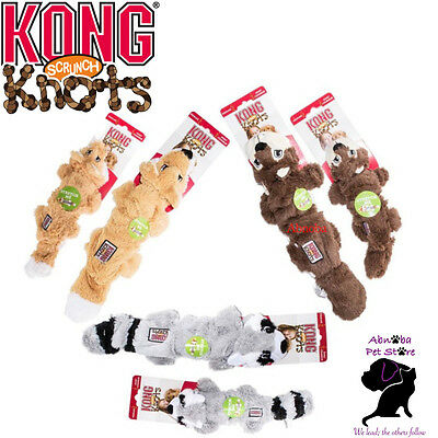 KONG Dog Scrunch Knots Plush Stretchy sides Stuffing-free Stretchy sides Squeaks