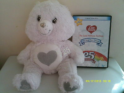 Collector's Edition, 25Th Anniversary Tenderheart White Care Bear With Dvd