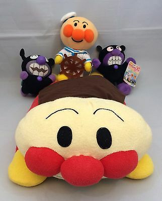 Licensed Japanese four Sore Ike! Anpanman soft toys, used, Japan import (O1031)