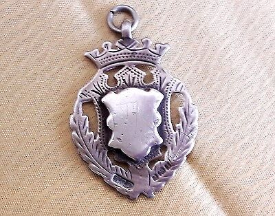 Antique Solid Silver Albert Watch Chain Fob 1910 10.3gms