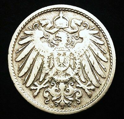 Historical Antique- German 10 Pfennig Coin - More than 100 Years Old Coin