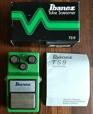 Ibanez Tube Screamer TS9 Distortion Effects Pedal (Made in Japan)