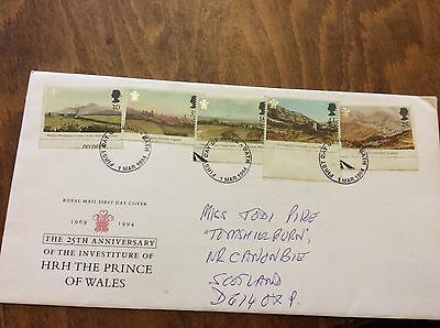 First Day Cover 25th anniversary Investiture of HRH Prince of Wales 1994