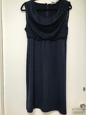 Mamalicious Maternity Navy Dress Size L. Worn Once @ 41 Weeks. Very Flattering.