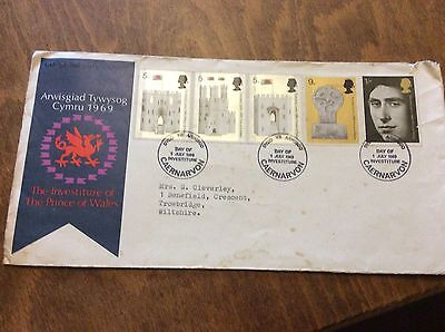 First Day Cover Investiture of HRH PRINCE OF WALES 1969