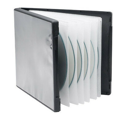 Media Vault 6 CD/DVD Case Holds Up to Six Disc Includes 3 Double Sided Sleeves
