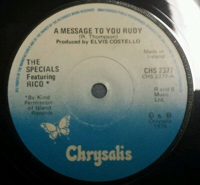The Specials  -  A Message To You Rudy  - Single - (Irish Pressing)