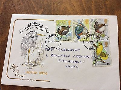 First Day Cover COTSWOLD WILDLIFE PARK 10th Anniversary 1980