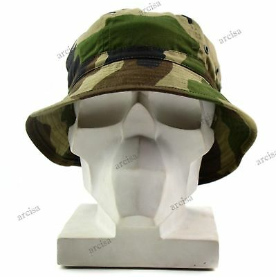 Original French Army boonie hat Military Camouflage France jungle summer cap