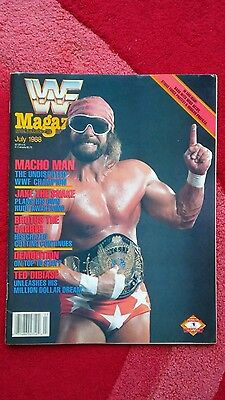 Wwf Wrestling Magazine July 1988 Randy Savage Front Cover.