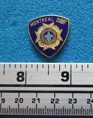 MONTREAL OUEST WEST  FIREFIGHTING FIRE FIREMAN POMPIER INCENDIE PIN # po-65