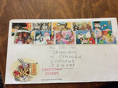 First Day Cover CHILDREN'S fiction 10 stamps 1983