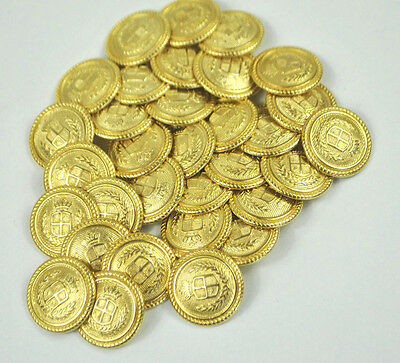 22Mm Gold Military Style Blazer Buttons