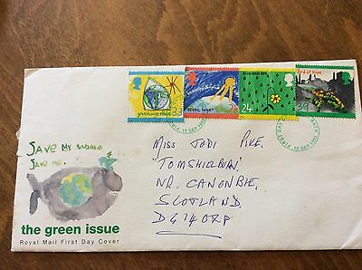 First Day Cover 1992 THE GREEN ISSUE
