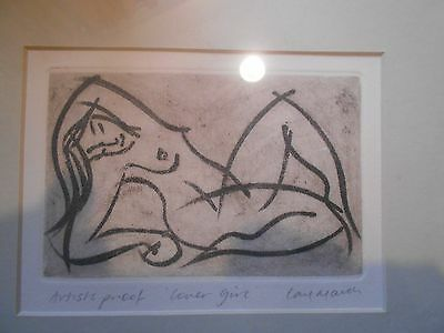 """carl March, artists proof, """"lovers girl"""""""