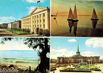 1965 VIEWS IN SOVIET KARELIA Eight postcards with colored photos 3 Lang captions