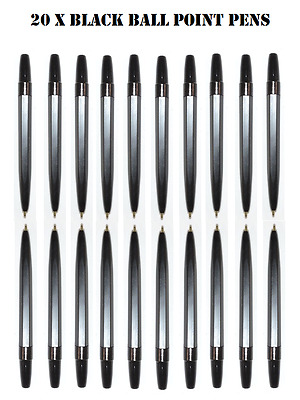 20 Black Mini Small Ball Point Pens- Golf Approx Half Normal Size