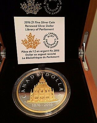 2016 Renewed Library of Parliament Dollar # 2 Pure 2 oz .9999 Silver Big Coin