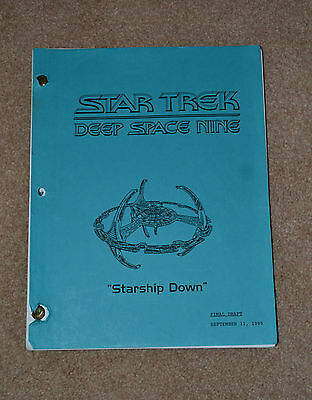 Star Trek (Deep Space Nine) Final Draft Script 'Starship Down' 1995