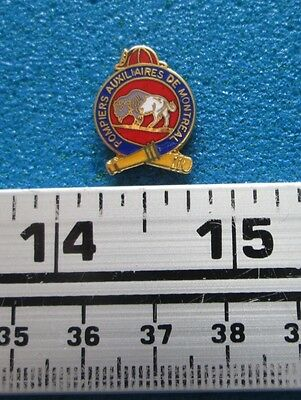 POMPIERS  AUXILIAIRES MONTREAL FIREFIGHTING FIRE FIREMAN  INCENDIE PIN # po-110