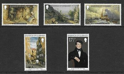 GUERNSEY 1980 CHRISTMAS. PETER le LIEVRE PAINTINGS STAMP SET MH