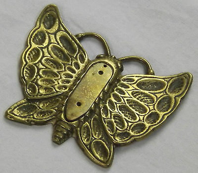 Solid Brass Butterfly Fireside Ornament Art Nouveau Wall Plaque Home Decor