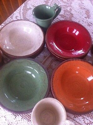 """3 PCs HandThrown PotteryWHITE BOWLS Signed by Artist DEBBIE SMITH!! NEW! 8"""""""
