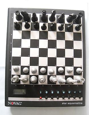 ideal gift star aquamarine electronic Chess Computer by novag