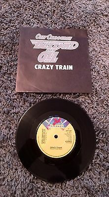"ozzy osbourne/blizzard of oz / Crazy Train 7"" Vinyl Rare Picture Sleeve"
